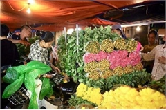 Hanoi's largest flower market enjoys bustling atmosphere ahead of Tet