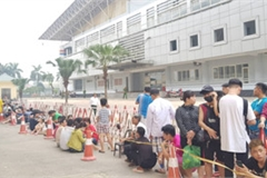 Fans queue all night to secure tickets for Myanmar clash