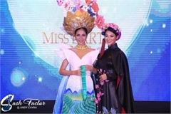 Vietnamese contestant Hoang Hanh wins bronze in Miss Earth's national costume contest