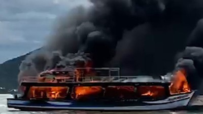 25 survive cruise ship fire off Kien Giang coast