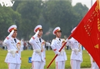 Flag-salute ceremony in celebration of National Day