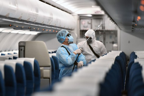 all vietnam airlines aircraft disinfected for international flights hinh 0