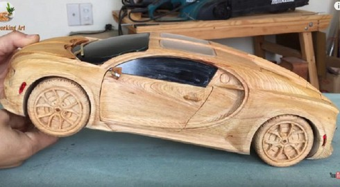amazing vietnamese wooden car models hit foreign headlines hinh 0