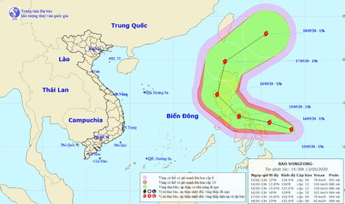 potential emerges for typhoon vongfong to enter east sea hinh 0