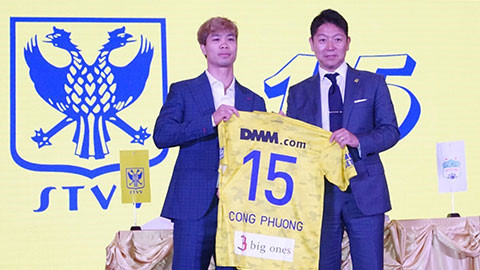 cong phuong given number 15 jersey at sint-truidense fc hinh 0