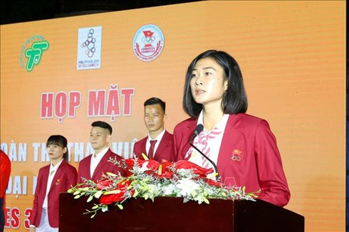 seeing-off ceremony for southern athletes to sea games 30 hinh 0