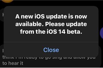 Người dùng khó chịu vì iOS 14 beta tiếp tục xuất hiện lỗi thông báo cập nhật giả