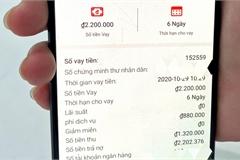 Vay 1 triệu đồng qua app, chưa đầy tháng, rơi vào vòng xoáy nợ nần