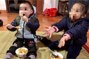 Xót xa hai đứa trẻ bị bỏ ngoài trời lạnh kèm lá thư nhờ nuôi giúp