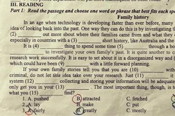 Quảng Ngãi: Một phần đề thi lớp 10 chuyên Anh giống y chang nội dung đã ôn tập