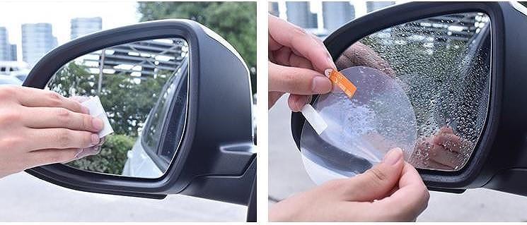 Miếng dán chống nước trên gương ô tô có thật sự hiệu quả? - ảnh 1