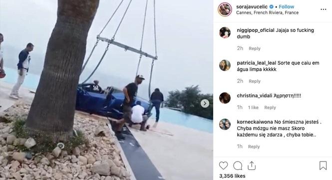 Người mẫu Playboy lao Lamborghini Huracan xuống hồ bơi - ảnh 1