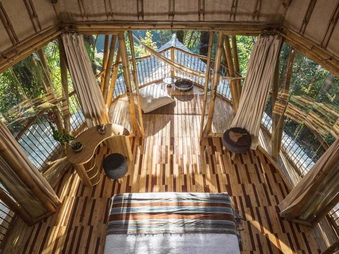 Ngỡ ngàng 'biệt thự tre' 6 tầng tuyệt đẹp giữa rừng - ảnh 3