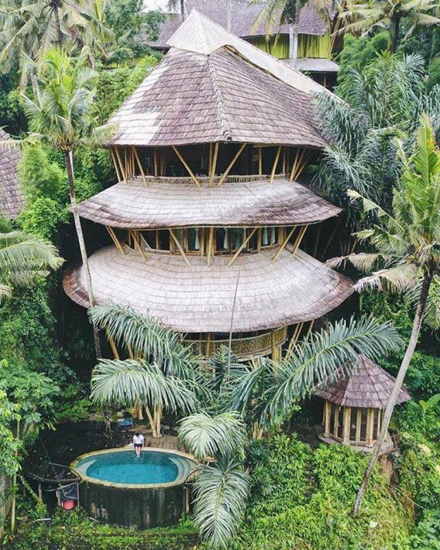 Ngỡ ngàng 'biệt thự tre' 6 tầng tuyệt đẹp giữa rừng - ảnh 5