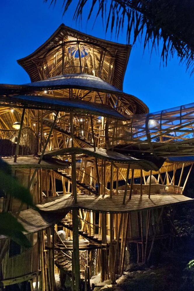 Ngỡ ngàng 'biệt thự tre' 6 tầng tuyệt đẹp giữa rừng - ảnh 8