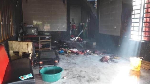 Người mẹ trong vụ mua xăng phóng hỏa tự thiêu cùng 3 con đã tử vong - ảnh 1