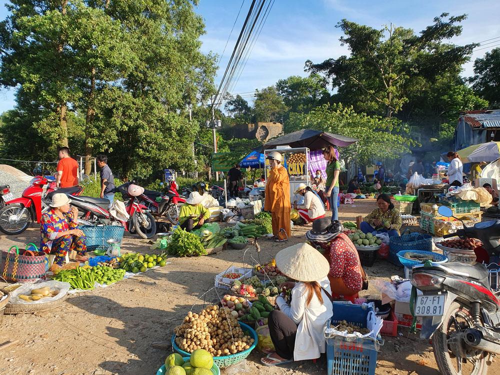 Chợ 'chồm hổm' độc đáo ở An Giang, họp chỉ 1 tiếng là 'giải tán' 1