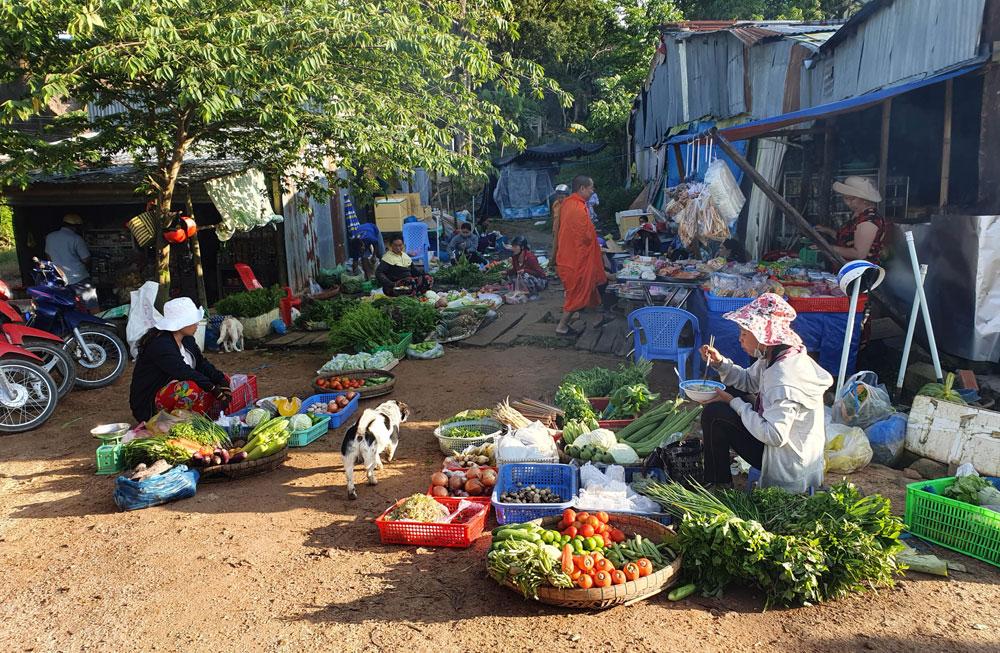 Chợ 'chồm hổm' độc đáo ở An Giang, họp chỉ 1 tiếng là 'giải tán' 9a