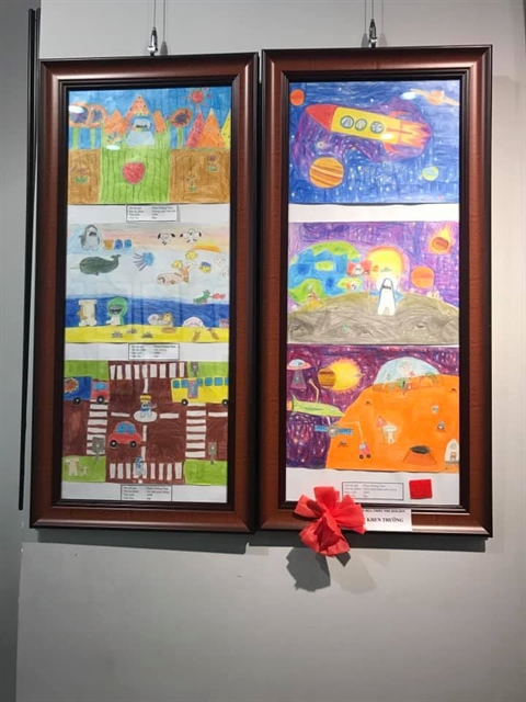 Painting exhibition celebrates Children's Day