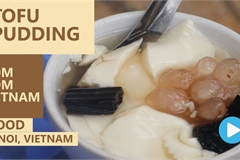 Vietnamese food: Tofu pudding