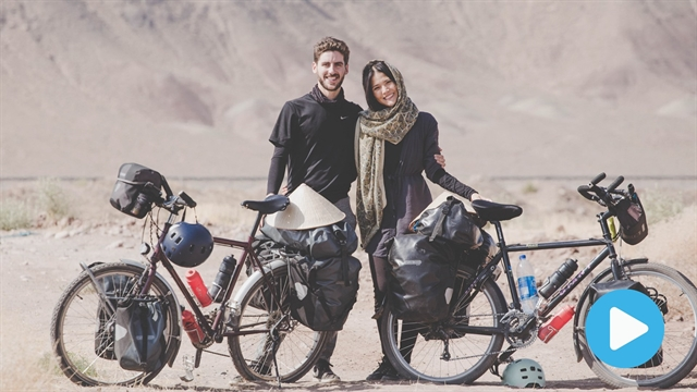 Couple cycle from France to Vietnam to raise money for charity