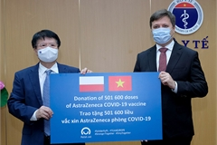 Health Ministry receives more than 500,000 AstraZeneca doses donated by Poland