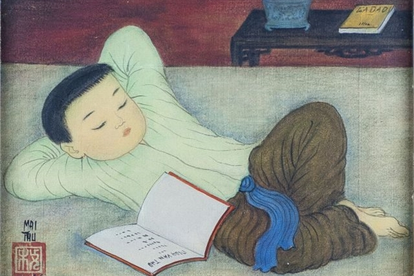French museum hosts exhibitionon painter Mai Trung Thu