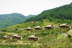 Valley of rice fields offers autumn retreat