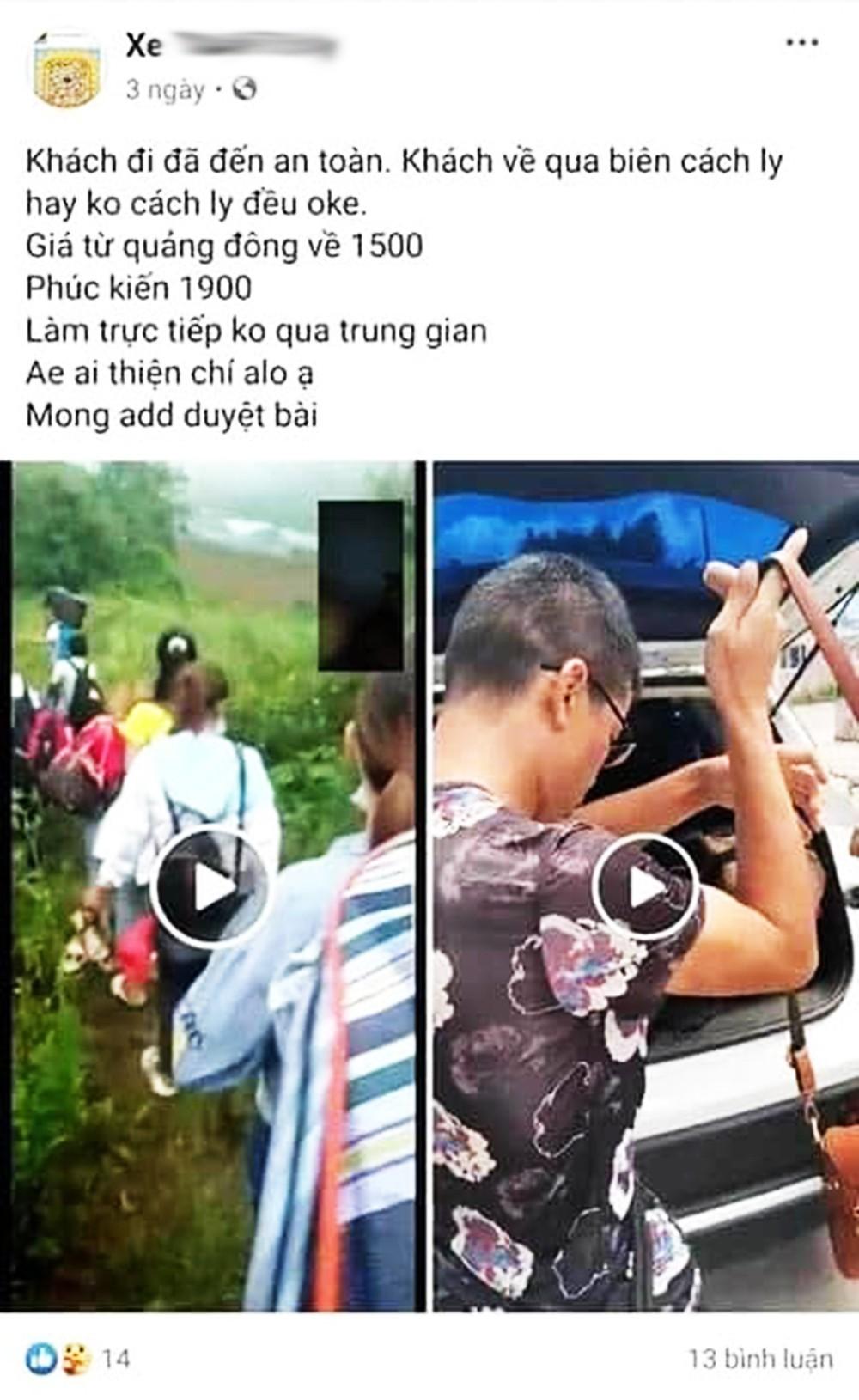 Giật mình với những quảng cáo đưa người qua biên giới Việt - Trung trốn cách ly trên mạng xã hội - ảnh 5