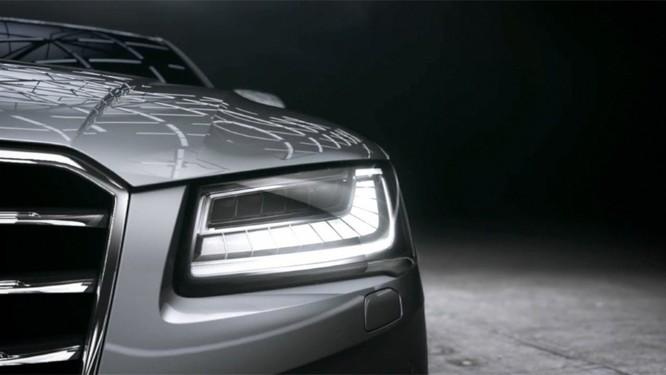 Hệ thống đèn chiếu sáng Matrix LED trên Audi A8