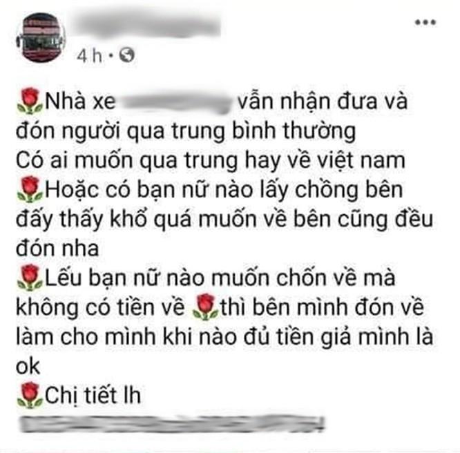 Giật mình với những quảng cáo đưa người qua biên giới Việt - Trung trốn cách ly trên mạng xã hội - ảnh 6