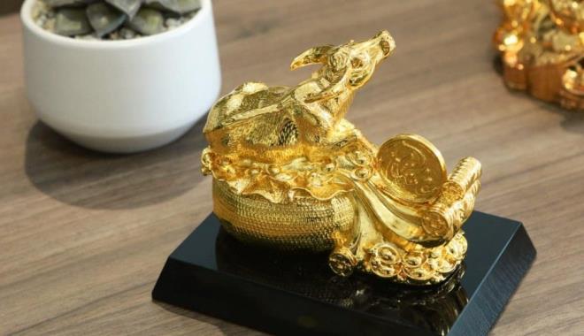 Quà Tết Tân Sửu 2021: 'Sốt' tượng trâu mạ vàng tiền triệu - 4