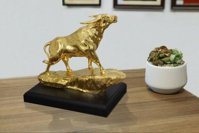 Quà Tết Tân Sửu 2021: 'Sốt' tượng trâu mạ vàng tiền triệu - 8