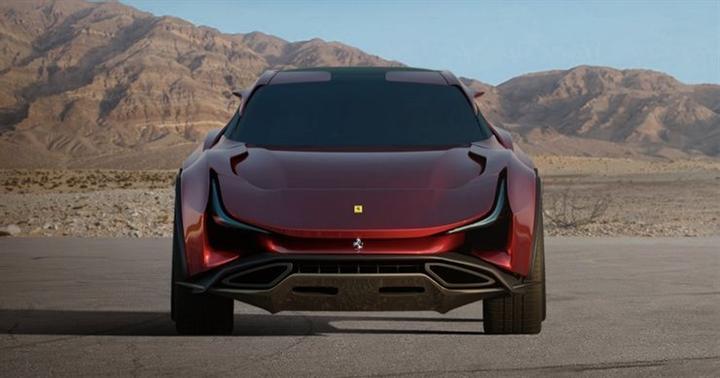 Mẫu SUV đầu tiên của Ferrari với thiết kế hầm hố - 4