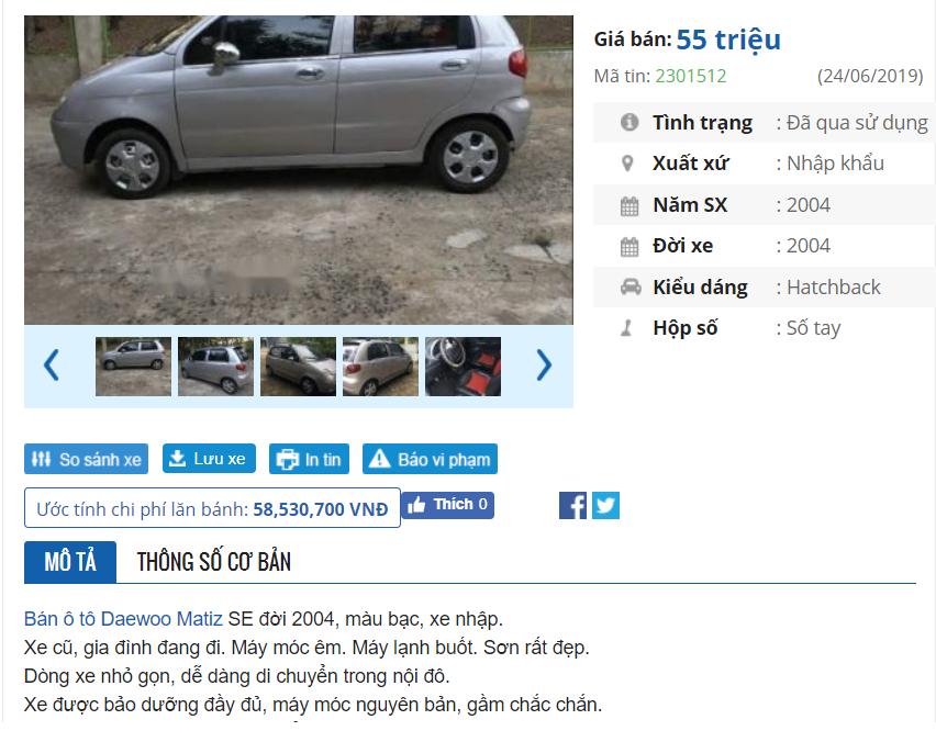 Co nen mua Daewoo Matiz cu 50 trieu de thay xe may? hinh anh 2