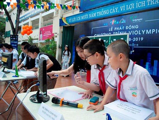 FPT cấp giấy chứng nhận điện tử cho thí sinh dự vòng cấp tỉnh, thành phố ViOlympic