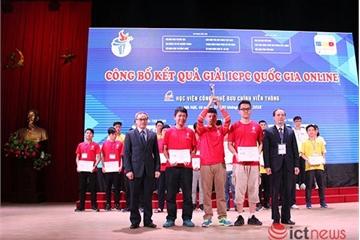 Trao 13 giải thưởng vòng quốc gia online kỳ thi lập trình ICPC 2018