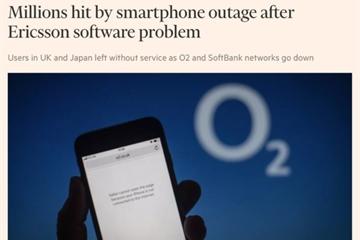 """Ericsson xin lỗi về sự cố """"sập"""" nhiều mạng di động trên toàn cầu"""