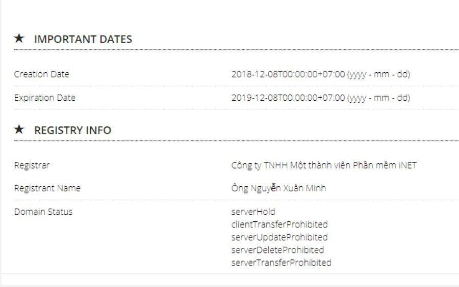 VNNIC nói gì về trường hợp vi phạm trong cung cấp thông tin trên mạng tại website vebongonline.com.vn? | VNNIC lên tiếng về trường hợp vi phạm trong cung cấp thông tin trên mạng với website