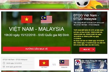Mở bán vé trận chung kết lượt về AFF Cup 2018 đợt cuối cùng: Lại điệp khúc nghẽn mạng ngay từ giây đầu tiên