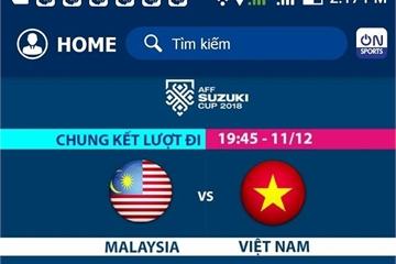 Xem bóng đá trực tiếp Việt Nam vs Malaysia trên Bóng đá TV online
