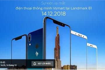Link trực tiếp sự kiện điện thoại Vsmart ra mắt trên YouTube