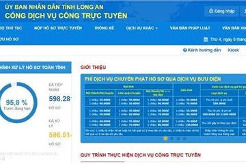 Long An: Chính thức vận hành Cổng Dịch vụ công trực tuyến mới