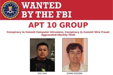 Mỹ buộc tội hai công dân Trung Quốc tấn công 45 hãng công nghệ và tổ chức chính phủ Mỹ