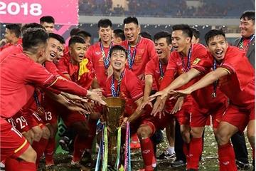 VinaPhone đã trao 2 tỷ đồng thưởng tuyển Việt Nam ghi bàn 2 trận chung kết AFF Cup 2018