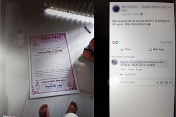 Đánh sập Facebook cá nhân bằng giấy chứng tử tại Việt Nam