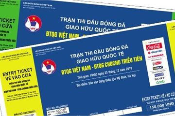 VFF mới bán được 15.000 vé xem trận đấu giao hữu của ĐT Việt Nam và Triều Tiên