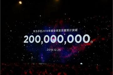 Huawei lập kỷ lục bán 200 triệu smartphone năm 2018