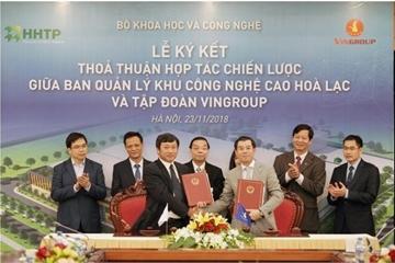 Vingroup sẽ đầu tư hạ tầng tại khu CNC Hòa Lạc để sản xuất các sản phẩm công nghệ cao