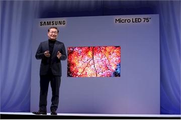Samsung giới thiệu tivi MicroLED 4K 75 inch tại CES 2019